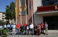 Hissada de la senyera i Homenatge a Catalunya en la Diada a la Llagosta