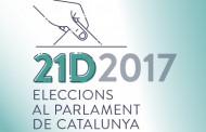 Comença la campanya de les eleccions al Parlament de Catalunya del 21 de desembre