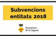 Les entitats ja poden demanar les subvencions de 2018 a l'Ajuntament