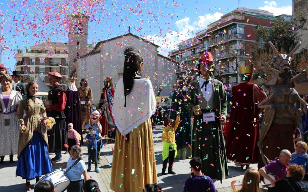 La Colla Gegantera de la Llagosta ha celebrat avui la seva 9a Trobada amb una bona acollida