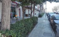 Comencen les obres de reforma de la vorera del carrer de l'Estació