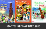 El jurat del Concurs de cartells de la Festa Major 2018 ha escollit les tres obres finalistes