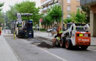 Comença el reaslfaltat d'alguns trams de carrers en mal estat