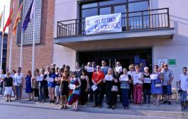 Concentració a la Llagosta en contra de la llibertat provisional sota fiança pels membres de 'la Manada'