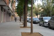 Ja han finalitzat les obres de renovació de la vorera dreta del carrer de l'Estació