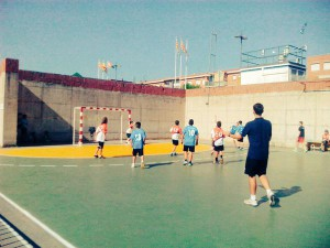 Equip aleví EIE contra l'handbol Cardedeu. Fotografia EIE.