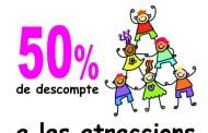 El dia 10, hi haurà un descompte del 50% en les atraccions de la fira de la Festa Major