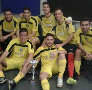 Celebració del segon equip del FS Unión Llagostense.