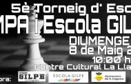 Diumenge, se celebrarà el Torneig d'escacs de l'Escola Gilpe i de l'AMPA