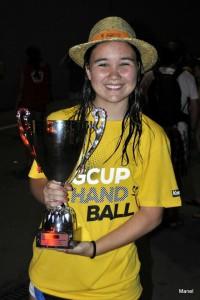 Carla Canalejas amb la copa de la Granollers Cup. Fotografia: Xavier Canalejas.