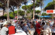 Més de 200 llagostencs, a la Festa de la Rosa del PSC a Gavà