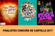 El jurat decideix les tres obres finalistes del Concurs de cartells de la Festa Major