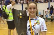 Erika Miró, campiona d'Espanya infantil amb el BM la Roca