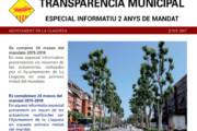 L'Ajuntament distribueix un especial informatiu sobre els dos primers anys de mandat