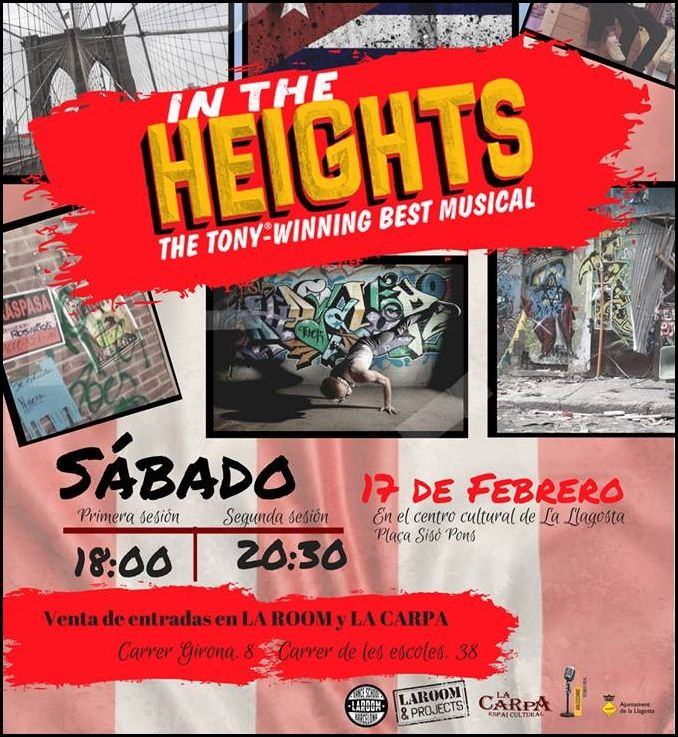La Room i la Carpa interpretaran demà el musical In the heights