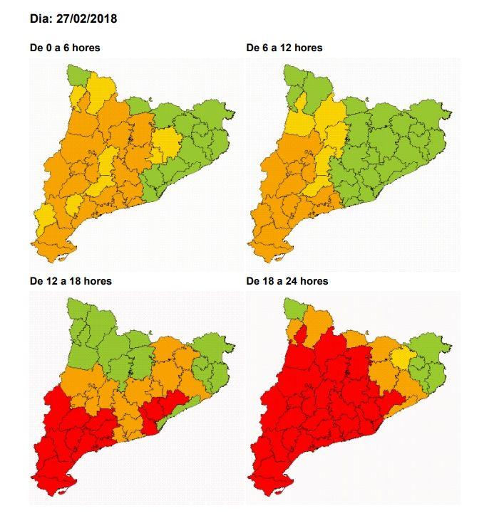 Nova alerta pel risc de nevades al Vallès Oriental dimarts i dimecres