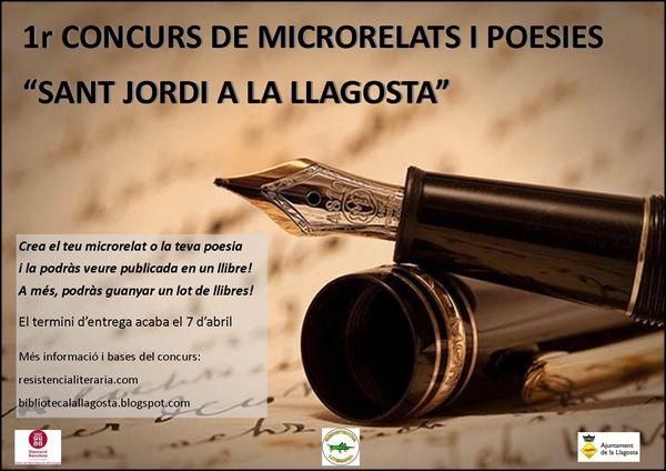Presentades 23 obres al Concurs de microrelats i poesia de Sant Jordi