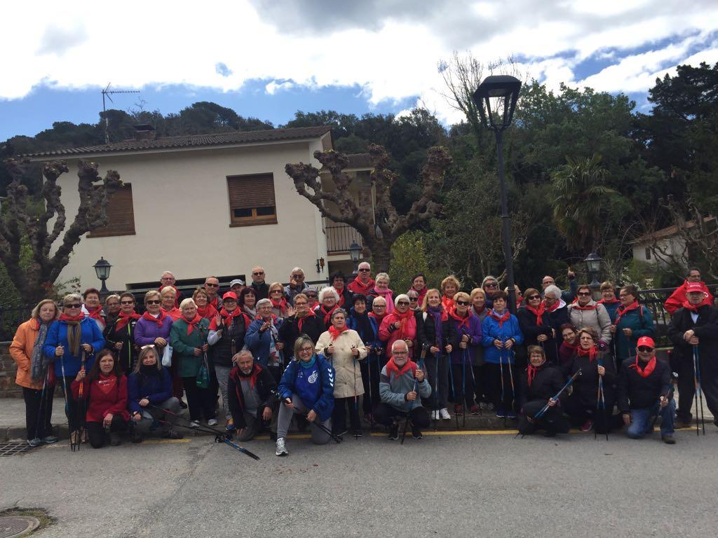 El Cicle de passejades per a la gent gran arriba avui a Sant Celoni