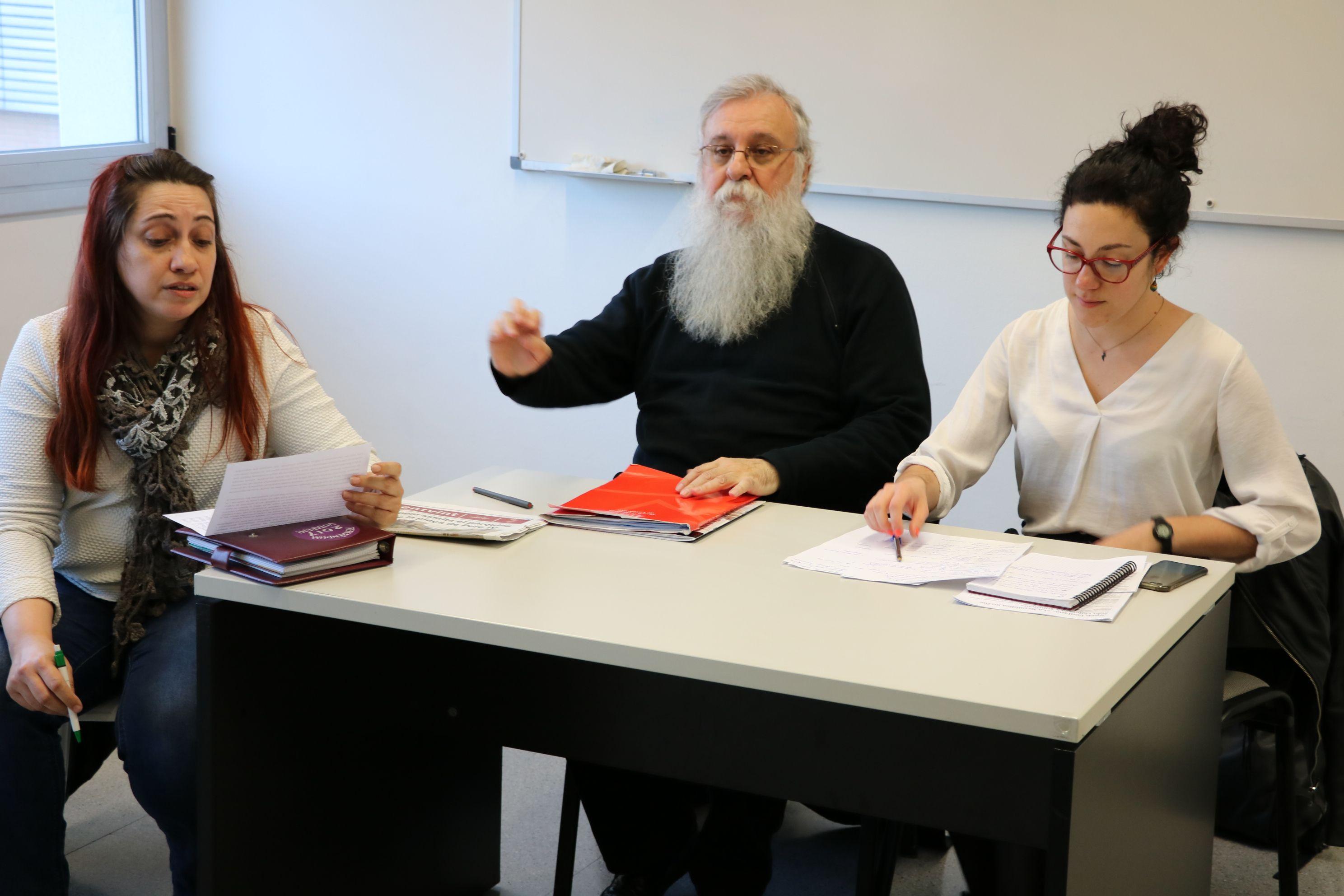 EUiA, ICV i Podemos de la Llagosta van organitzar ahir una xerrada sobre la República