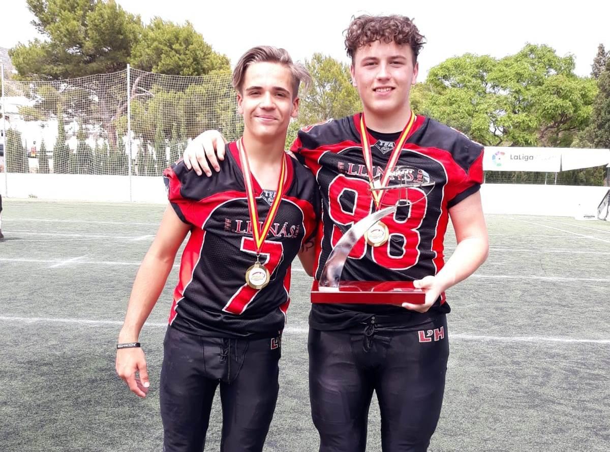 Álex Pacheco guanya el Campionat d'Espanya cadet de futbol americà