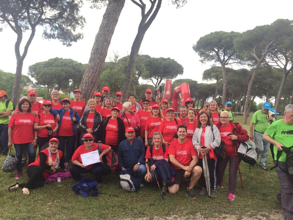 Una trentena de persones de la Llagosta participen en la cloenda del Cicle de passejades per a la gent gran