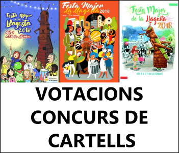 Ja es pot votar per escollir el cartell de la Festa Major 2018 de la Llagosta