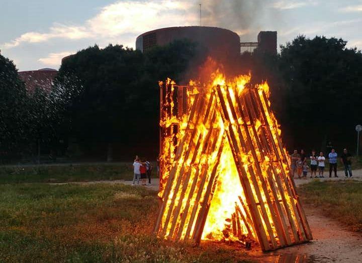 La Nit de Sant Joan va cremar part d'un solar a prop de la riera Seca