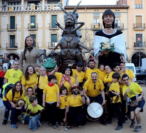Els gegants tancaran la temporada visitant Sant Andreu de Llavaneres