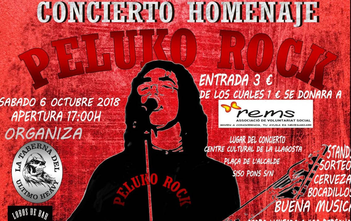 Demà dissabte, se celebrarà al Centre Cultural el Concert homenatge Peluko Rock