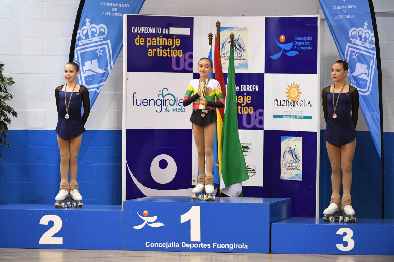 Paula Román, subcampiona de la Copa d'Europa de patinatge artístic