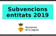 Subvencions de 2019 per a les entitats locals