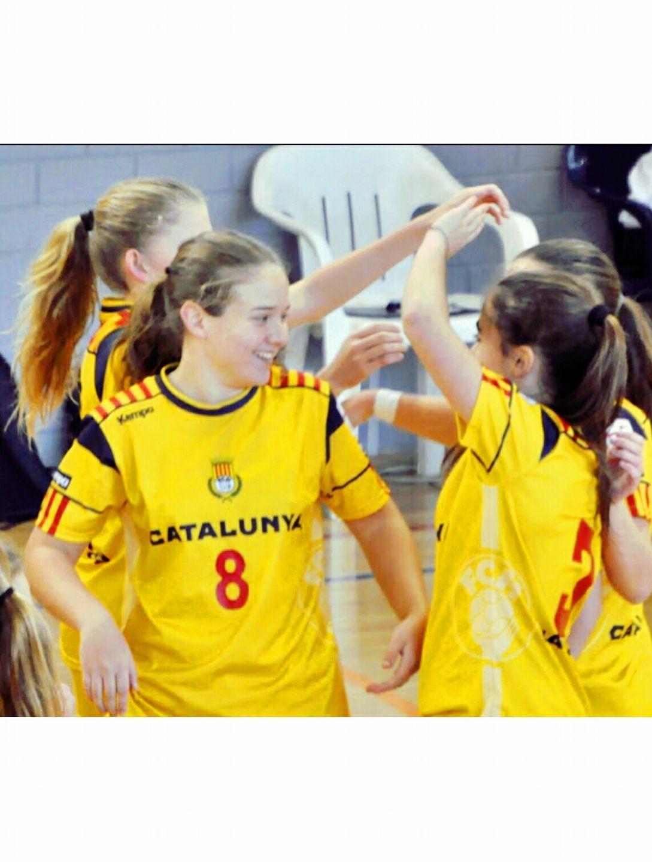 Ariadna Muñoz juga el Campionat d'Espanya d'handbol