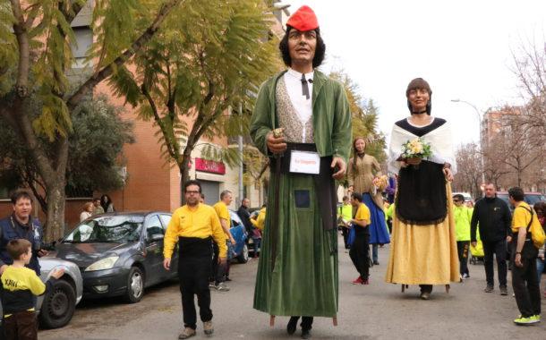 Primera sortida de l'any de la Colla Gegantera de la Llagosta
