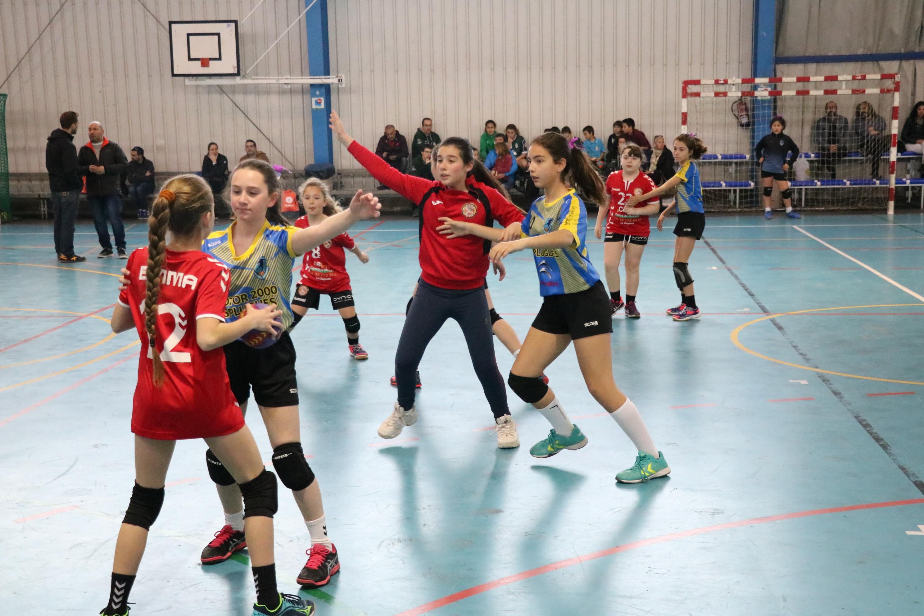 El Joventut Handbol i el FS Unión Llagostense se sumen al Dia de les Dones