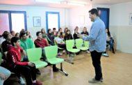 L'alcalde de la Llagosta ha participat avui a una tertúlia amb alumnes de la Balmes