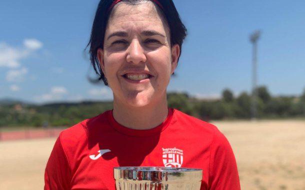 Sonia Bocanegra, subcampiona d'Espanya de Clubs Màster amb el Barcelona Atletisme