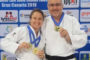 Alicia Piñero i David Soriano, campions d'Europa de judo de veterans