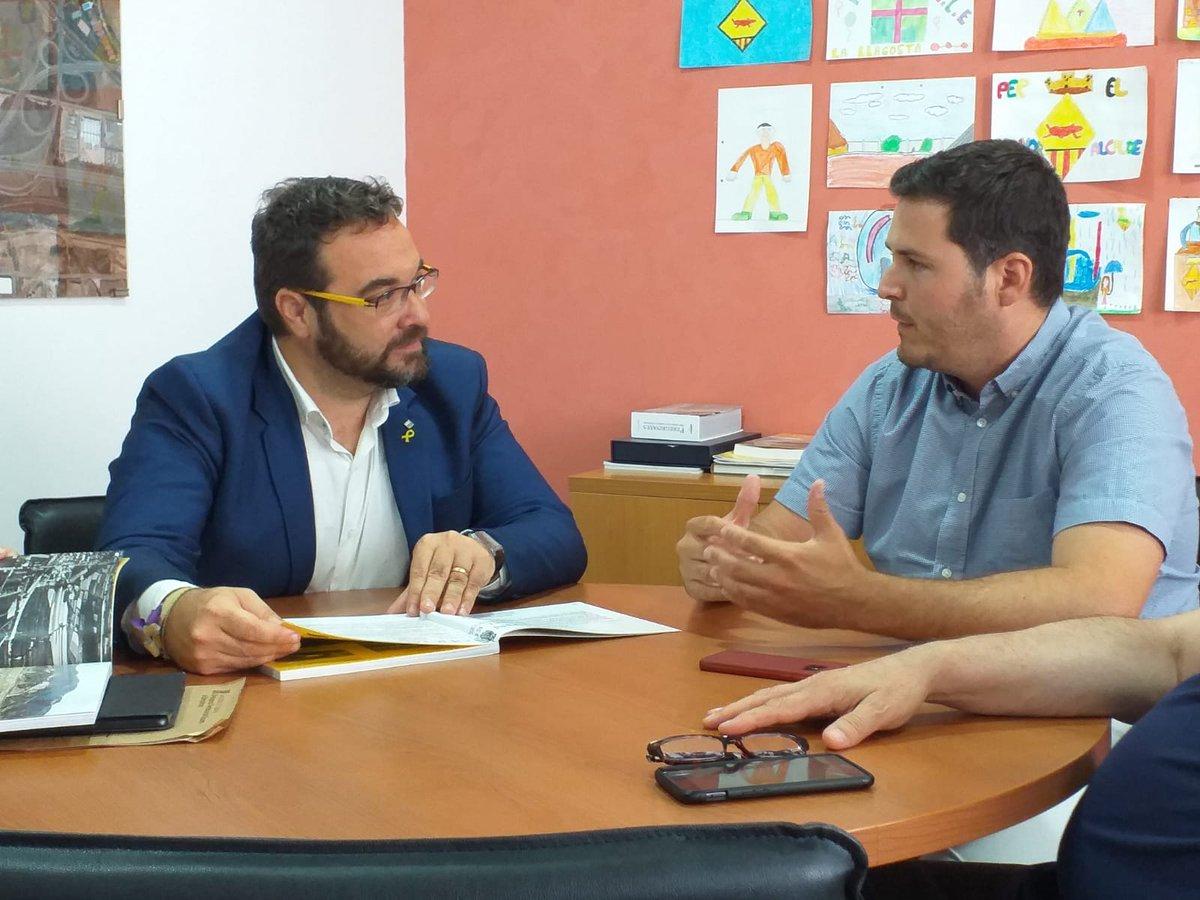 L'alcalde es reuneix amb el delegat del Govern de la Generalitat a Barcelona