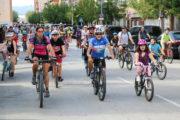 Unes 120 persones han participat avui en la Diada de la Bicicleta