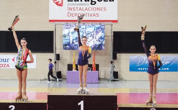 Paula Román, campiona d'Espanya infantil de patinatge artístic