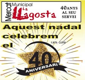 El Mercat Municipal celebra els 40 anys sortejant 2.200 euros en vals de compra