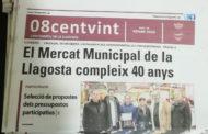 Els 40 anys del Mercat Municipal, a la portada del 08centvint de gener