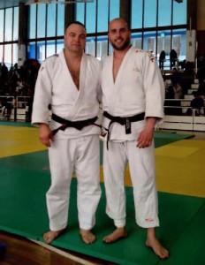 Buendía, a la dreta, i Ivancea en una imatge del Club de Judo de la Llagosta.