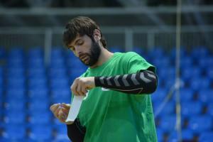 Antonio García en un entrenament del Pick Szeged. Fotografia: Pick Szeged.