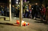 Concentració a la Llagosta com a mostra de condol per les víctimes de l'accident aeri