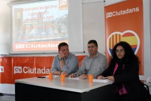 D'esquerra a dreta: David Gerbolés, Jordi Sabanza, i Inma Rubio.