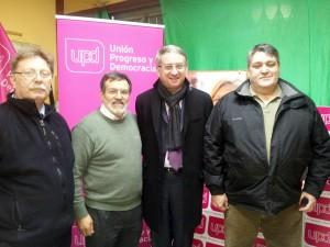 D'esquerra a dreta, Caro, Fraile, Ramon de Veciana, candidat d'UPyD a la residència de la Generalitat, i Rivadeniera.
