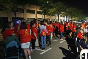La pl. de l'Alcalde Sisó Pons duran un acte de la Festa Major