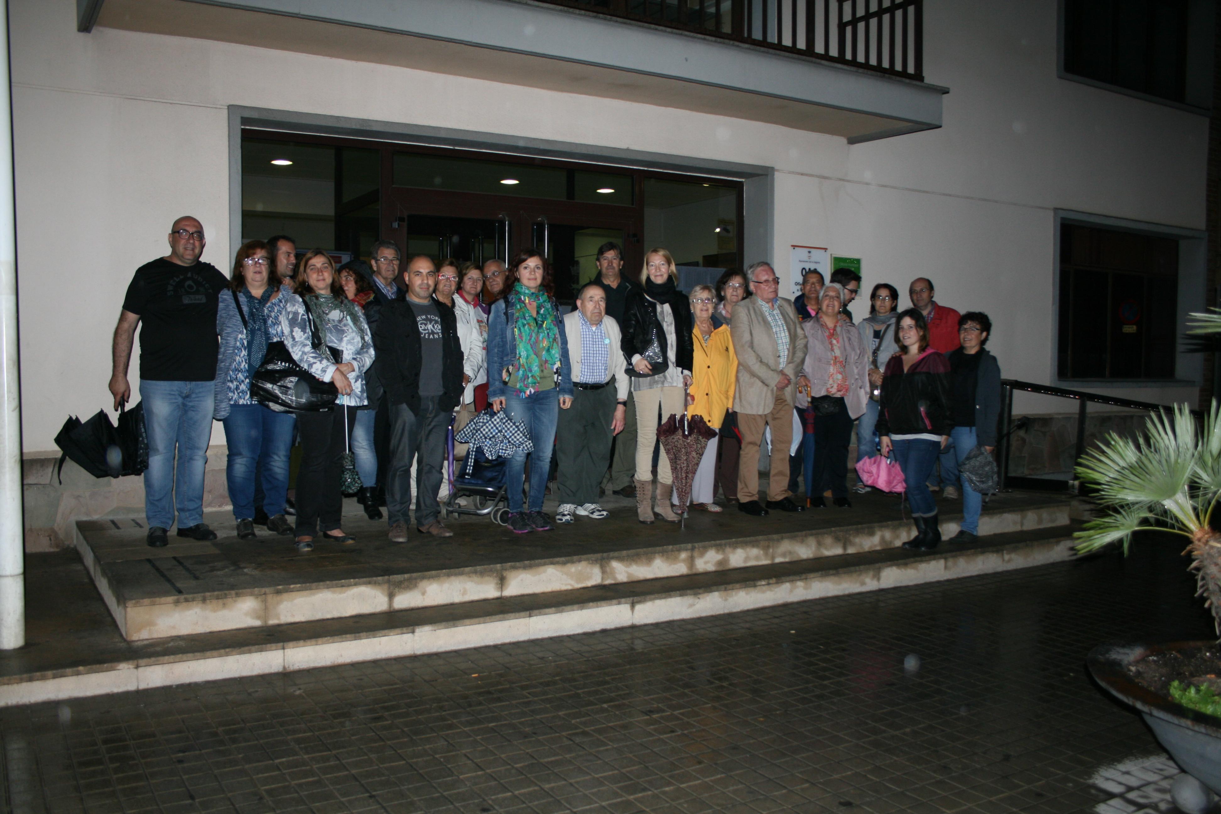 Concentració en suport a Mas, Rigau i Ortega a la Llagosta