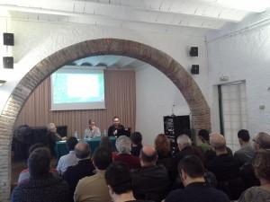 Un dels moments de la trobada a la sala La Marineta de Mollet. Fotografia: Xavier Cols.